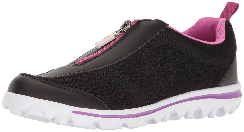 Propet Women's TravelActiv Zip Walking Shoe B01IODDGAA 10 2A US|Black/Berry