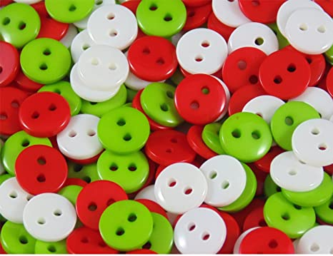 Buttons various colours pack of 100 buttons