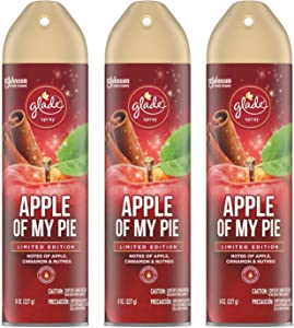Glade Air Freshener Spray - Apple of My Pie - Holiday Collection 2020 - Net Wt. 8 OZ (227 g) Per Can - Pack of 3 Cans