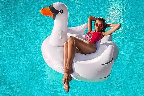 Flotador inflable en forma de Cisne tamaño para la piscina o playa. Cisne flotador hinchable para la piscina o la playa por Integrity co: Amazon.es: ...