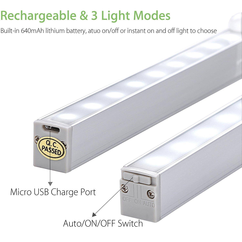 Armoire Fil3 RechargeableLofter Leds Mouvement Automatique Modes 18 Garage D'éclairageVeilleuse Sans Placard Lampe Enfant Detecteur De 2IEDH9