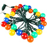 Heavy Duty Commercial G40 Globe Led String Lights,17Ft 25 LED Outdoor Colored Christmas Lights,Patio Garden Seasonal Festive Light,Home Decor Party Wedding Mood Lighting-Uzexon