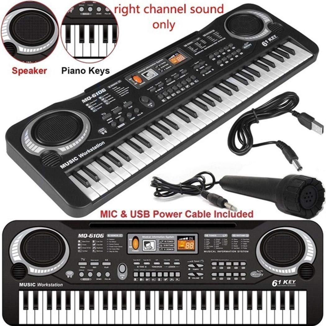 Suines Baby Music Instruments Electronic 61 Keyboard Piano Kids Learning Toys with Mic Pianos Keyboards