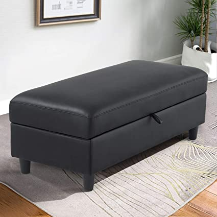 Cool Amazon Com Honbay Rectangular Storage Ottoman Faux Leather Cjindustries Chair Design For Home Cjindustriesco