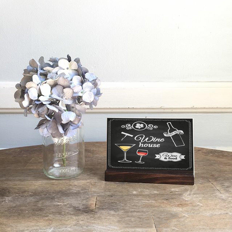 Amazon.com: 5 x 6 pulgadas Mini tablero de pizarra de mesa ...