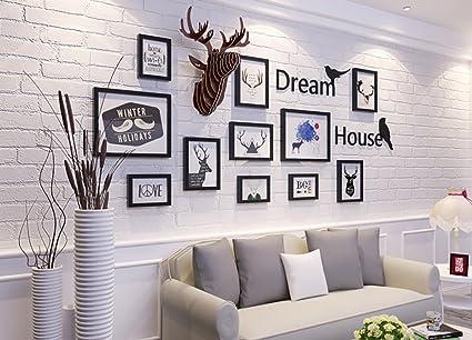 XMH Shop Foto semplice parete in legno massello cornice foto ...