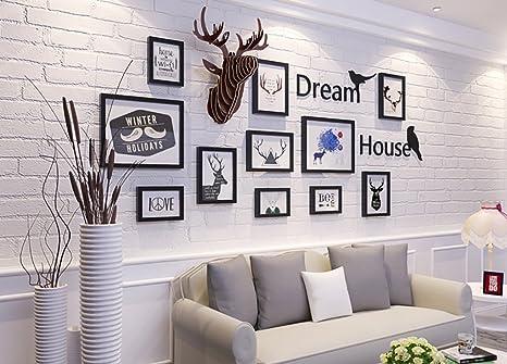 Longwei foto semplice parete in legno massello cornice foto