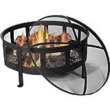 Sunnydaze 30 Inch Bravado Mesh Wood Burning Fire Pit with Spark Screen