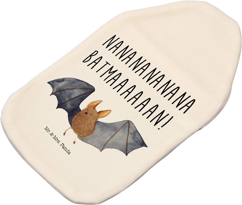 W/ärmflasche Fledermaus fliegend mit Spruch Panda K/örnerkissen Farbe Wei/ß Mr /& Mrs W/ärmekissen
