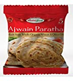 HIMALYA FRESH Ajwain Paratha (5 Bags, 5 Pieces Each Bag) - Premium Authentic Indian Food Bread Made With Made With Organic Wheat And Olive Oil - No Fillers Or