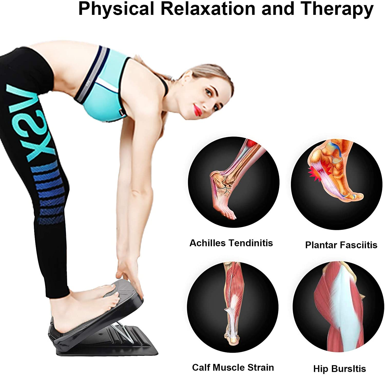 Stretch Fitness Board Ankle Correction Leg Plastic Achilles Exercise Slant Board