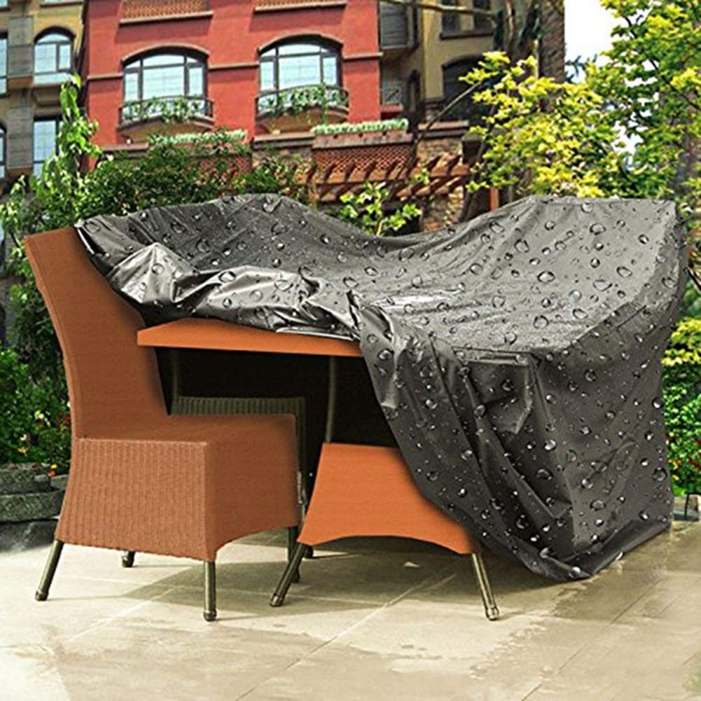 JIANFEI Housse Protection Salon De Jardin Imperm/éable Couverture /Étanche Table Carr/ée Color : Black, Size : 127x127x74cm 16 Tailles Soutien Personnalisation