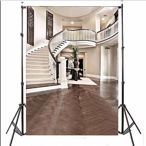 BouBou Interior De Vinilo Escalera Hall Mansión Paño Fotografía Telón De Fondo: Amazon.es: Electrónica
