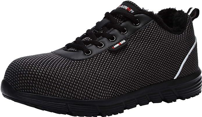 LARNMERN Steel Toe shoe Women