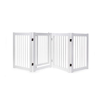 Primetime Petz 360 Configurable Dog Gate With Door Indoor Freestanding Walk Through Wood Pet Gate