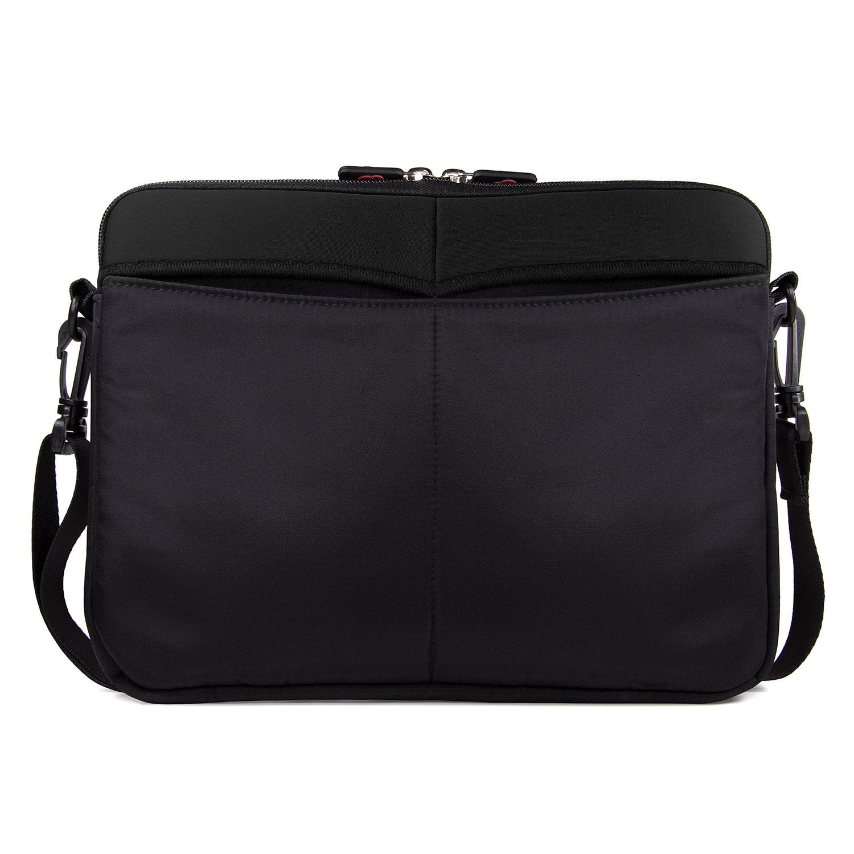 Kroo RCA 11 Maven Pro 11.6'' Case Neoprene Sleeve Bag with Shoulder Strap, Timeless Black