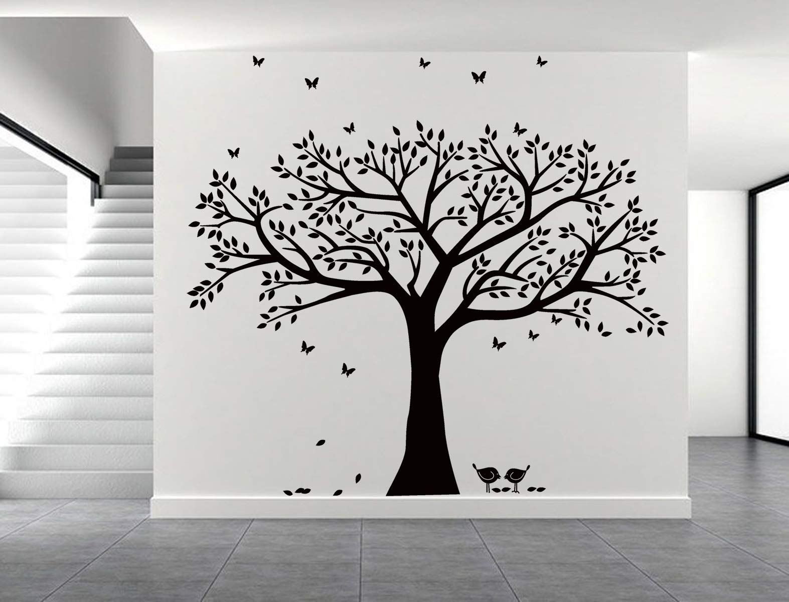 LSKOO Family Photo Frame Tree Wall Decals Family Tree Decal Living Room Home Decor (108'' Wide x 84'' Tall) (Black) by LSKOO (Image #4)