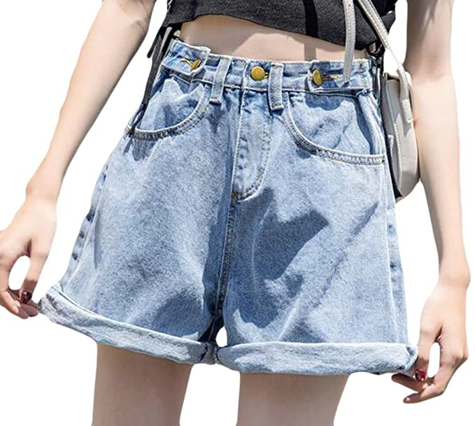 faded high waisted shorts