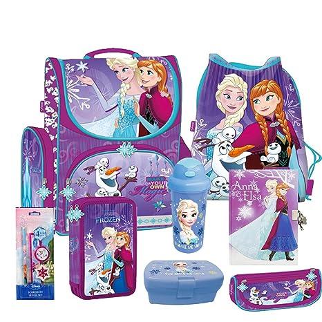 Set de mochila escolar de Frozen El Reino de Hielo (8 piezas)