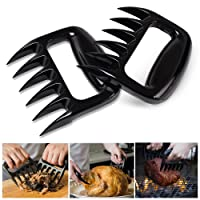 Bear Claws, Pulled Pork Shredder Claws, Meat Handler Forks for Pulling, Shredding Pork, Chicken, Beef, Brisket, Salad, BBQ, Barbecue, Easily Cleaned and Compact -Set of 2