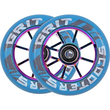 Grit - Rueda para Patinete (100 mm, 8 radios), Color Azul y ...