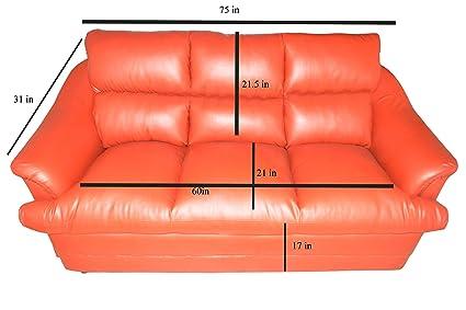 Styles Sofa Virat 3+1+1 Five Seater Sofa Set (Orange ...