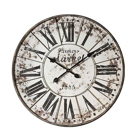 YN Relojes Vintage Grande Reloj de Pared Cafe Tienda de Ropa Decoración de la Pared Colgante