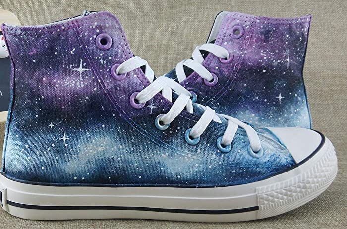 0512c2d2169a0a Amazon.com  Galaxy Shoes For Men Women Hand Painted Canvas Shoes Chuck  Taylor Mens Women  Handmade