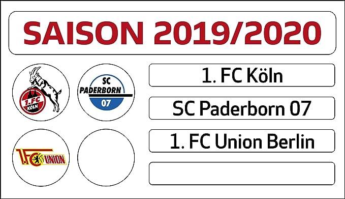 1 Bundesliga Magnettabelle Bundesliga 20//21 Fussball DFL Multicolor