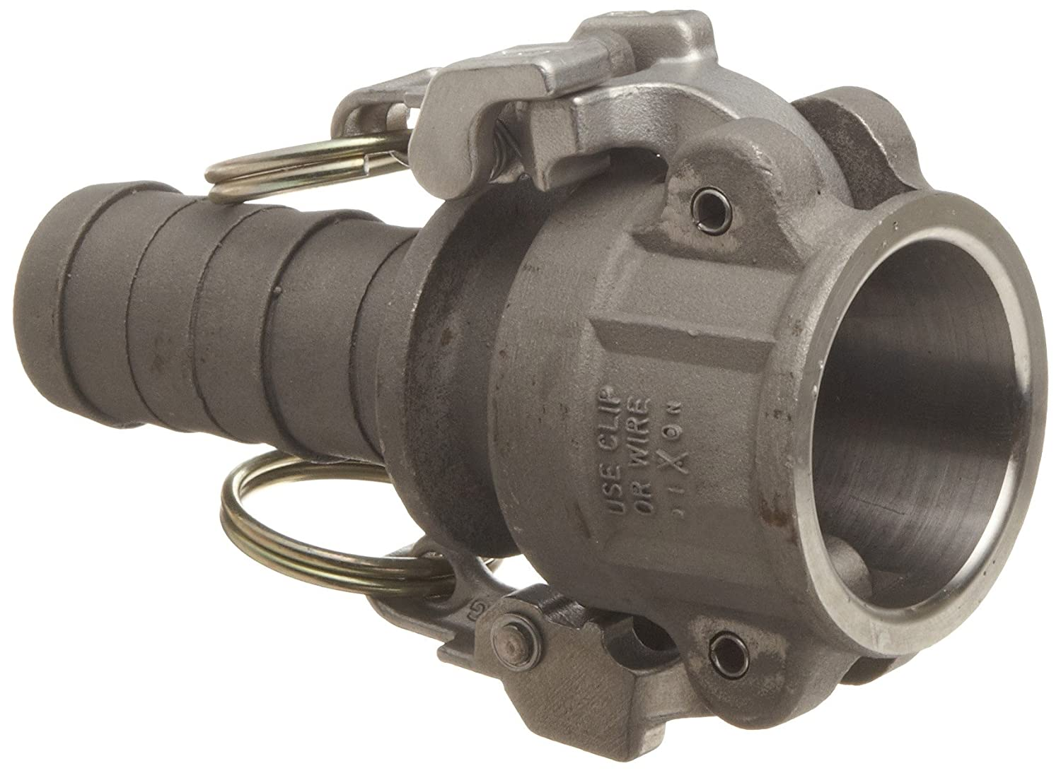 Dixon 50-E-SS Stainless Steel 316 Boss-Lock Type E Cam and Groove Hose Fitting 1//2 Plug x 1//2 Hose ID Barbed 1//2 Plug x 1//2 Hose ID Barbed Dixon Valve /& Coupling