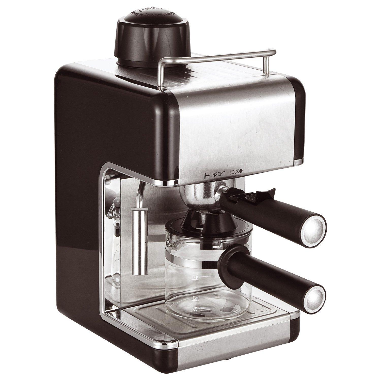 Cafetera de espresso o capuchino, eléctrica y profesional, para el hogar o la oficina. negro: Amazon.es: Hogar