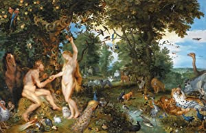 Jan Brueghel and Peter Paul Rubens - The Garden of Eden and The Fall of Man, Size 16x24 inch, Poster Art Print Wall décor