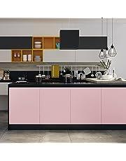 KINLO Möbelfolie aus hochwertigem PVC küchenfolie klebefolie Tapeten küche aufkleber küchenschränke Wasserfest aufkleber für schrank selbstklebende folie Dekofolie MIT GLIETZER