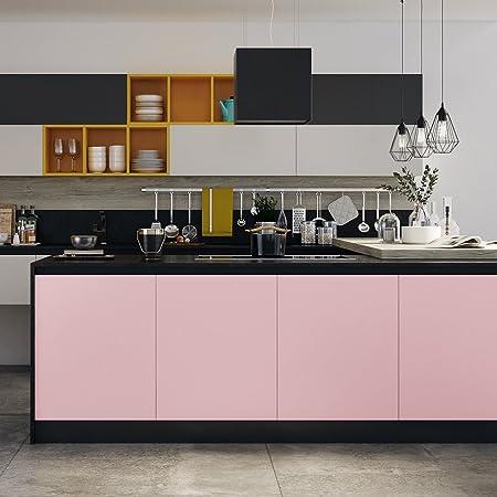KINLO Aufkleber Küchenschränke rosa 61x500cm aus hochwertigem PVC ...