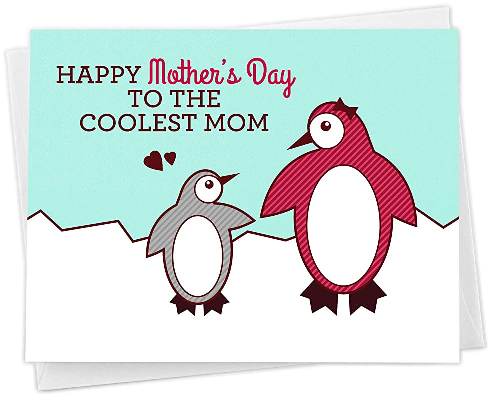 Cute Penguin Happy Mother&30;s Day Card