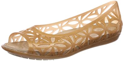 621123fb crocs Women's Isabella Jelly II Flat W Sandal, dark gold/gold, ...