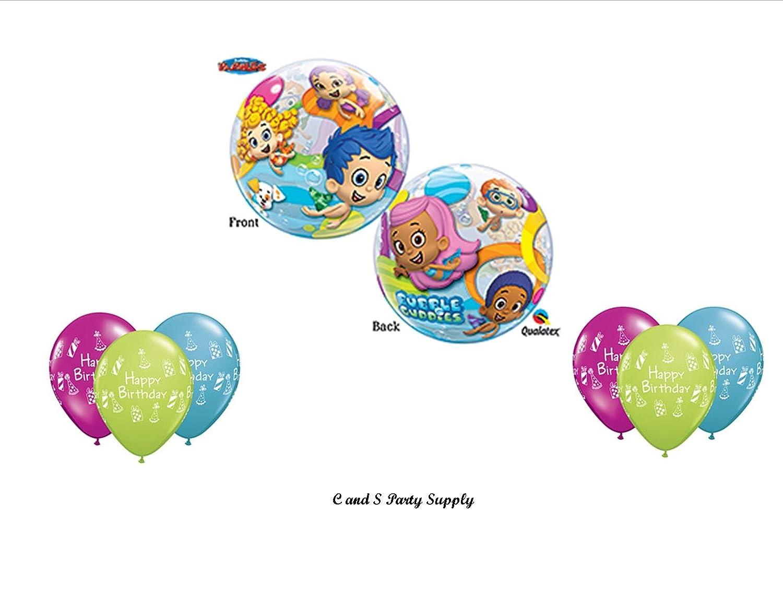 amazon com bubble guppies birthday party balloons decorations