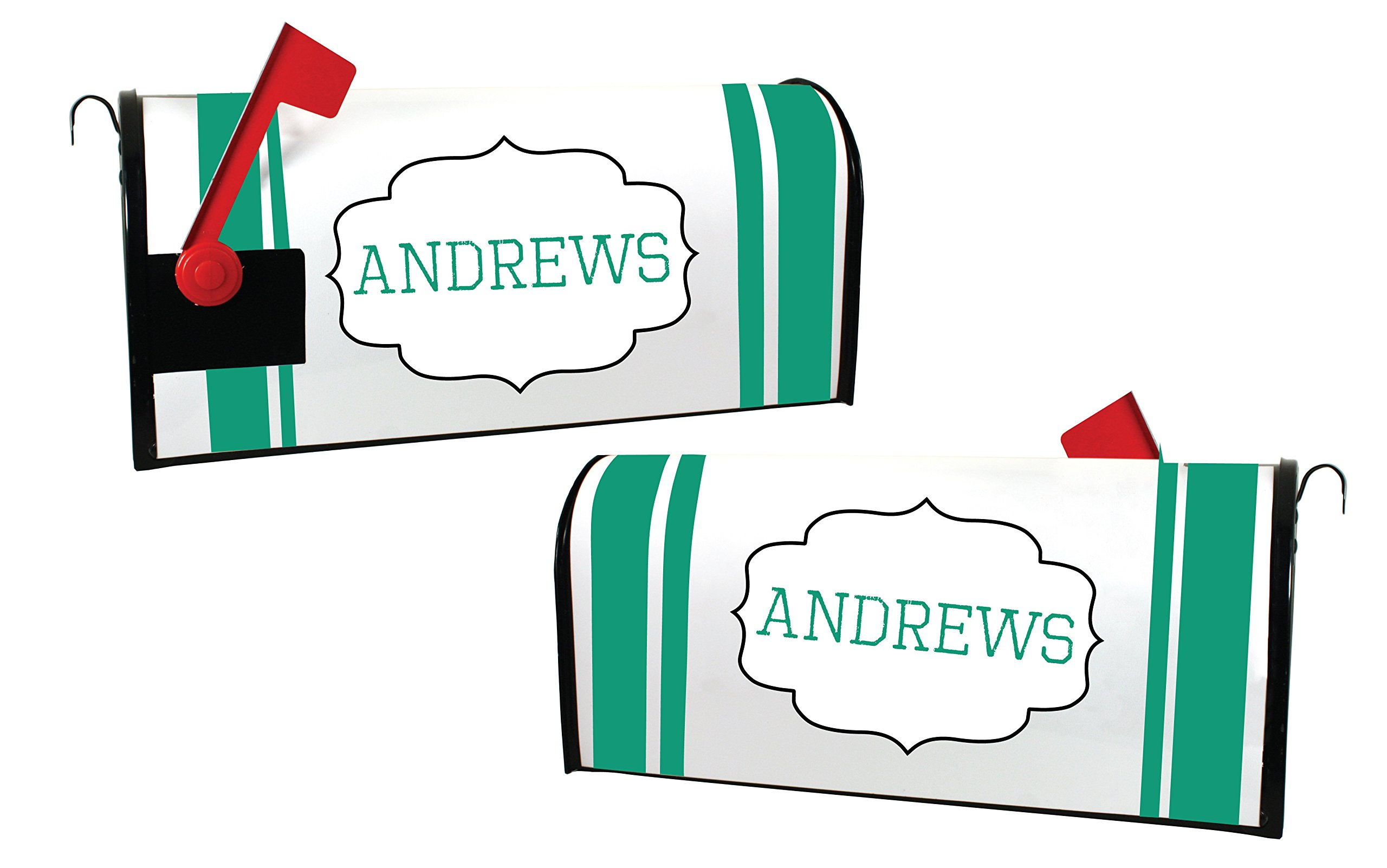 Custom Magnetic Mailbox Cover Personalized with Last Name