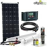 Offgridtec Solaranlage für Wohnwagen Sm100/12 V - Komplett-Set für Wohnmobil, 100 W, 002710