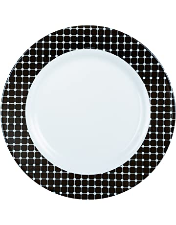 Luminarc 8010486 Tiago Juego de 6 de ópalo Negro 19 x 2 cm