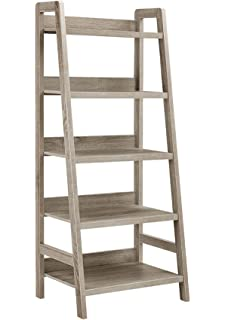 Linon 69336GRY01U Tracey Ladder Bookcase 25 W X 1799 D 60 H