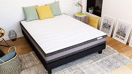 Conjunto colchón Memoria + somier 160 x 200 Memo Confort hbedding – Espuma Alta Densidad + Memoria de Forma
