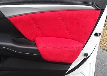 RedlineGoods Honda Civic 2012-15 cubiertas de insercion y apoyabrazos de puertas (4-