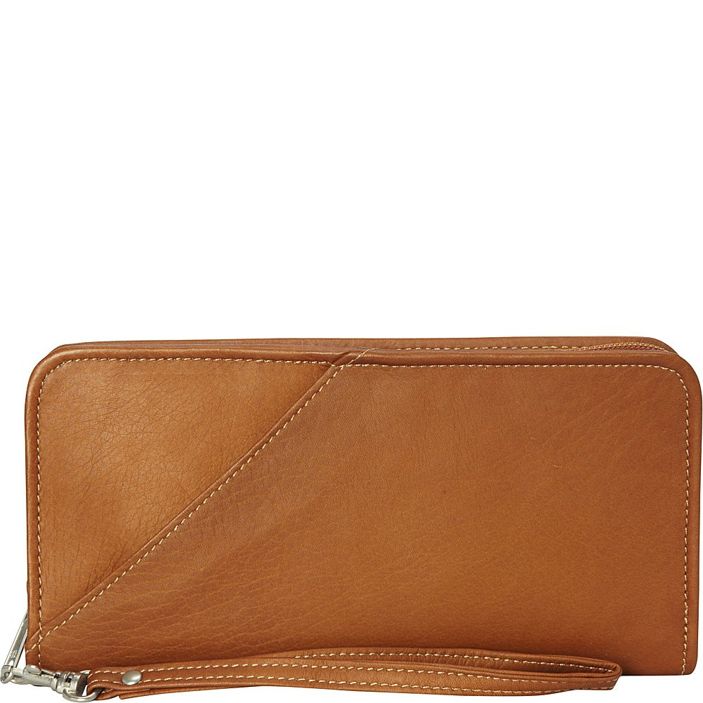 Piel Leather Executive Travel Wallet, Saddle, One Size