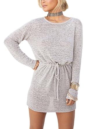 430f26473e96 Femmes Tricot Crochet Cordon Scoop Cou
