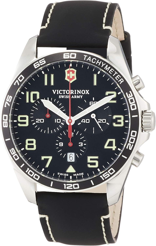 Victorinox Hombre Field Force Chronograph - Reloj de Acero Inoxidable de Cuarzo analógico de fabricación Suiza 241852