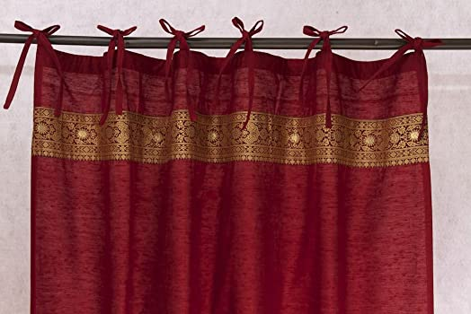 Worldcraft Industries Authentic Indian Curtain Panel