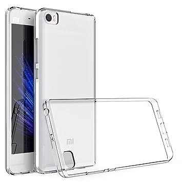 Funda Xiaomi Mi5, HanLuckyStars Carcasa Xiaomi Mi5 Case TPU Silicona Gel [Ultra Fina][Anti-Choques] para Xiaomi Mi5