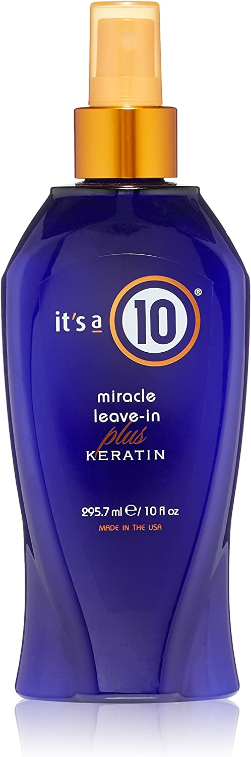 It's a 10 Haircare Miracle Leave-In Plus Keratin, 10 Fl. Oz (Pack of 1)