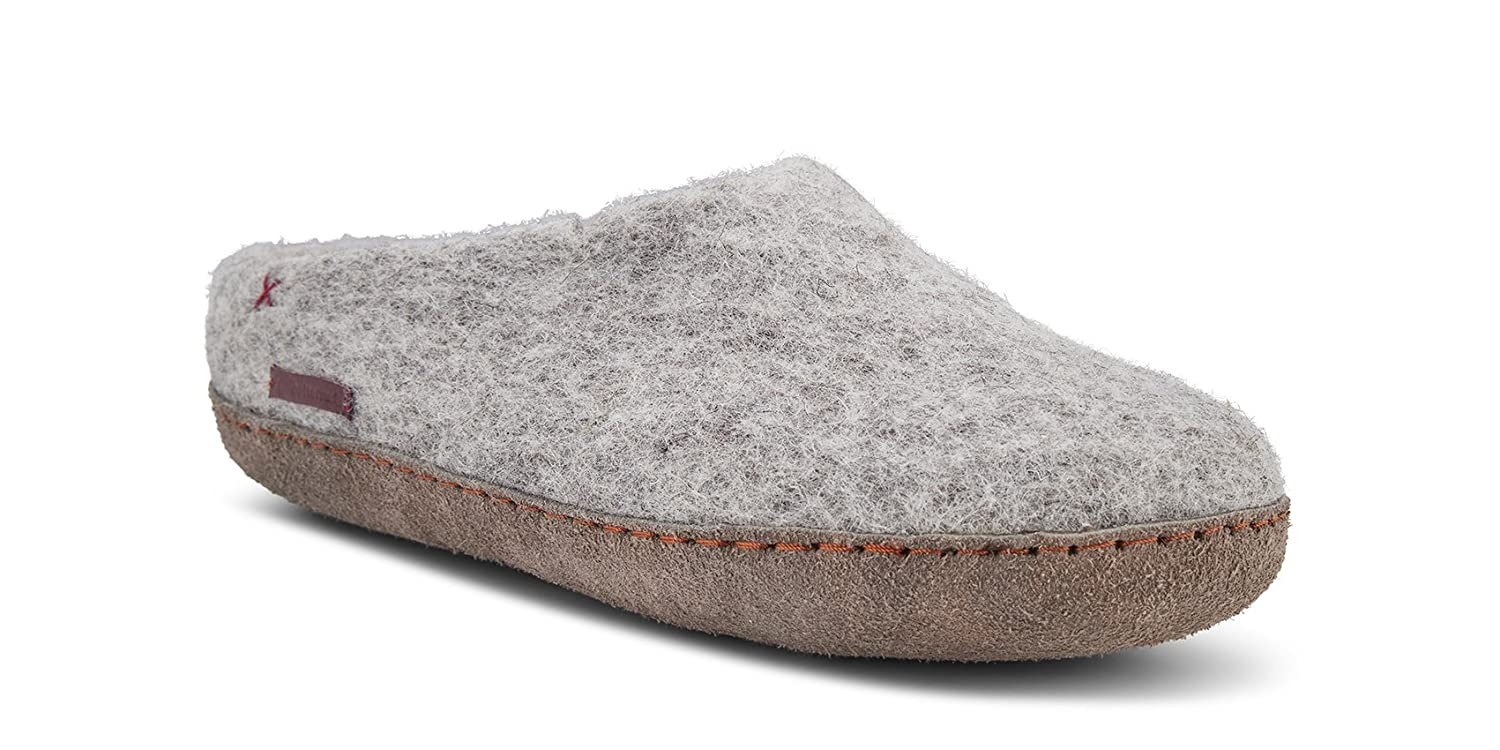 betterfelt Unisex Classic Woolen Slipper for Adults - All Natural Wool - Ultra Comfortable - Many Sizes and Colors B079DB2ZGG Adult 44|Off White